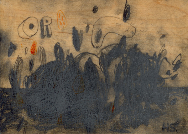 The Panorama Project  &nbsp -  <strong>Holly Stevenson,</strong> (2008<strong style = 'color:#635a27'></strong>)<bR /> Graphite & gouache on board,   5 x 7 inches