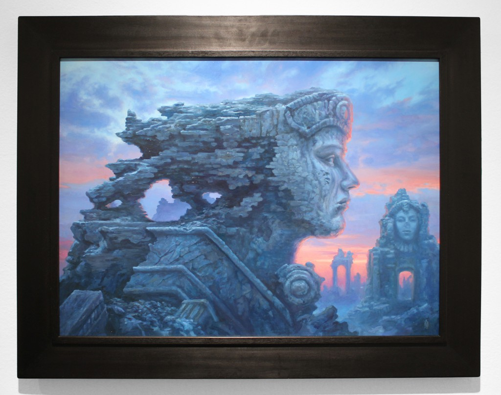 Matthew  Stewart -  <strong>Ozymandias</strong> (2015<strong style = 'color:#635a27'></strong>)<bR /> oil on panel,   20 x 27 inches  (50.8 x 68.58 cm)