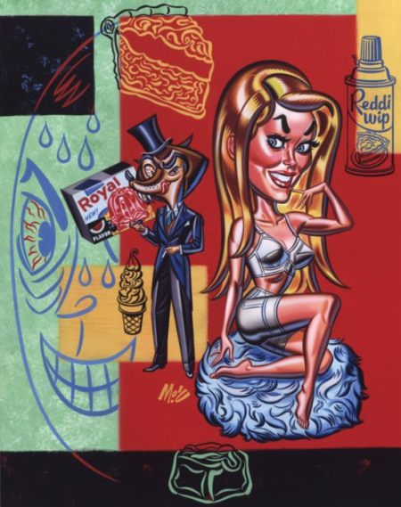 Mitch  O'Connell -  <strong>Sweet Thang</strong> (2004<strong style = 'color:#635a27'></strong>)<bR /> Frame Size: 15.5''x19.5''  Acrylic on Board.
