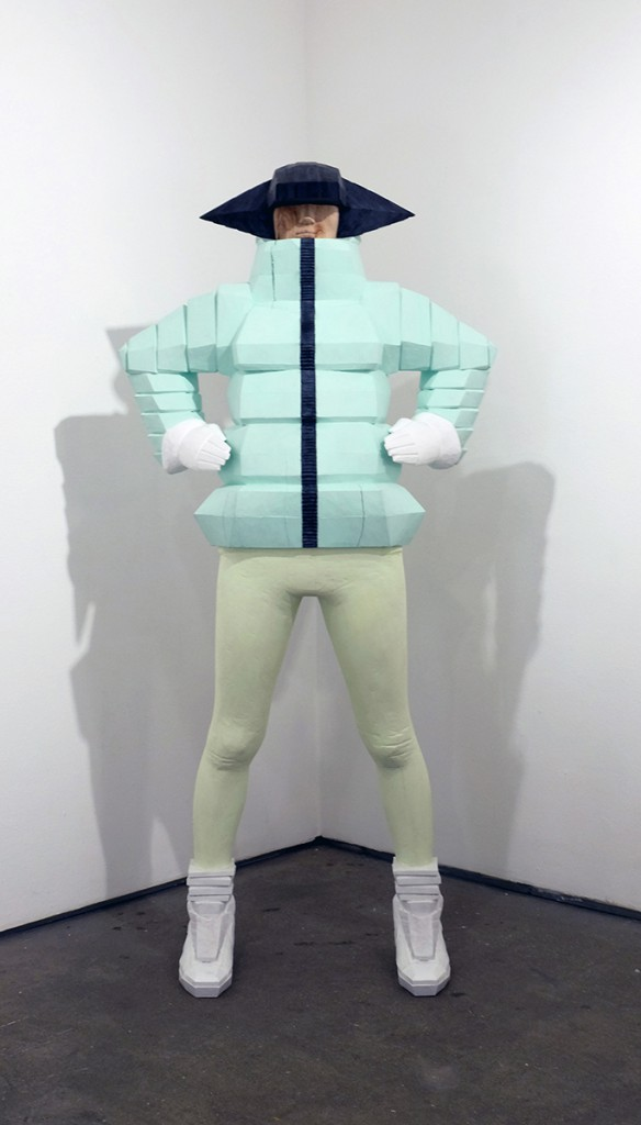 Taku  Obata -  <strong>Takuspe B-Girl Down Jacket</strong> (2014<strong style = 'color:#635a27'></strong>)<bR /> camphor wood and acrylic,   67.3 x 31.9 x 17.3 inches  (171 x 81 x 44 cm)