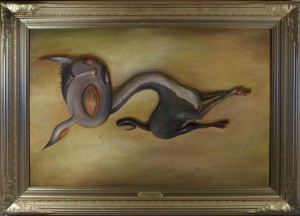 Scott  Musgrove -  <strong>The Frivolous Work of Polished Idleness</strong> (2010<strong style = 'color:#635a27'></strong>)<bR /> oil on board  20 x 30 inches (50.8 x 76.2 cm)  26 x 36 inches, framed