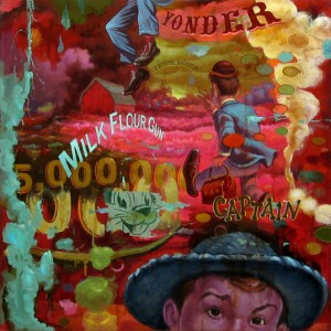 Dan  Kennedy -  <strong>The Invisible Hand</strong> (<strong style = 'color:#635a27'></strong>)<bR /> Oil on Canvas
