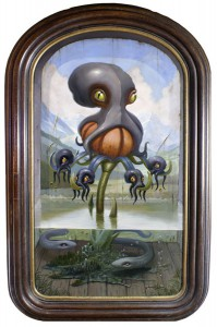 Scott  Musgrove -  <strong>Till Human Voices Waken Us</strong> (2010<strong style = 'color:#635a27'></strong>)<bR /> oil on board  28 x 16 inches (71.12 x 40.64 cm)  34 x 22 inches, framed