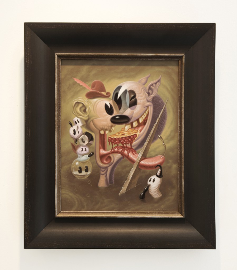 Todd  Schorr -  <strong>A Slice of Pie</strong> (2010<strong style = 'color:#635a27'></strong>)<bR /> acrylic on canvas,   18 x 14 inches  (45.72 x 35.56 cm),   25 1/4 x 21 3/8 inches, framed