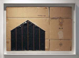 EVOL    -  <strong>Undercover</strong> (2015<strong style = 'color:#635a27'></strong>)<bR /> spray paint on cardboard,   30 x 44.09 inches  (76 x 112 cm)  33.86 x 48.03 inches, framed