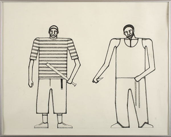 Date Farmers  &nbsp -  <strong>Untitled</strong> (2010<strong style = 'color:#635a27'></strong>)<bR /> ink and graphite on paper,   16 x 20 inches  (40.64 x 50.8 cm)