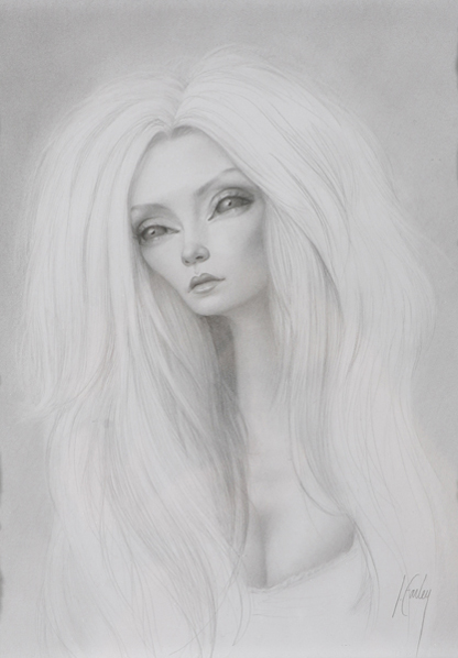 Lori  Earley -  <strong>Untitled</strong> (2007<strong style = 'color:#635a27'></strong>)<bR /> Graphite on paper,   Image size: 10 x 8 inches,   Framed size: 16 1/2 x 14 1/2 inches