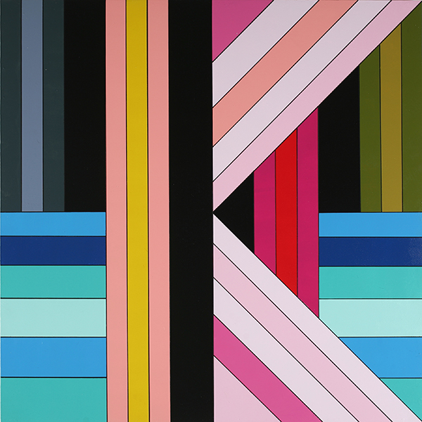 James  Marshall (Dalek) -  <strong>Untitled (A)</strong> (2009<strong style = 'color:#635a27'></strong>)<bR /> acrylic on wood panel,   36 x 36 inches  91.44 x 91.44 cm