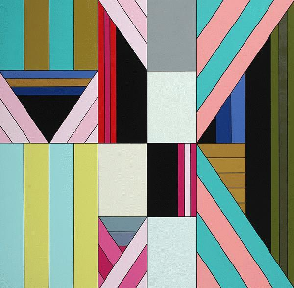James  Marshall (Dalek) -  <strong>Untitled (C)</strong> (2009<strong style = 'color:#635a27'></strong>)<bR /> acrylic on wood panel,   36 x 36 inches  91.44 x 91.44 cm