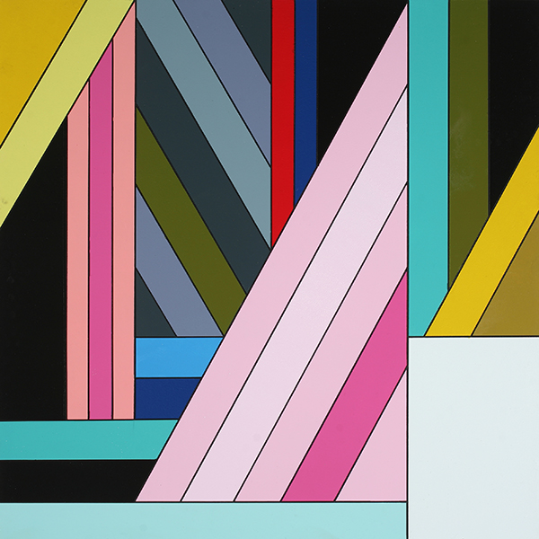 James  Marshall (Dalek) -  <strong>Untitled (F)</strong> (2009<strong style = 'color:#635a27'></strong>)<bR /> acrylic on wood panel,   24 x 24 inches  60.96 x 60.96 cm