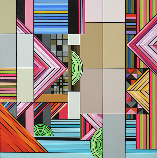 James  Marshall (Dalek) -  <strong>Untitled (no. 5)</strong> (2009<strong style = 'color:#635a27'></strong>)<bR /> acrylic on wood panel,   14 x 14 inches  35.56 x 35.56 cm