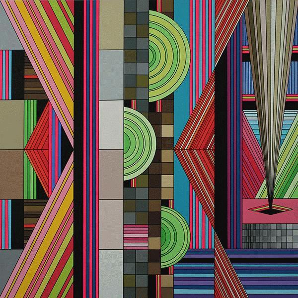 James  Marshall (Dalek) -  <strong>Untitled (no. 7)</strong> (2009<strong style = 'color:#635a27'></strong>)<bR /> acrylic on wood panel,   24 x 24 inches  60.96 x 60.96 cm
