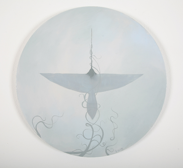 Jonathan  Viner -  <strong>V-Formation 6</strong> (2007<strong style = 'color:#635a27'></strong>)<bR /> Oil on Panel,   Image Size: 16 inches in diameter