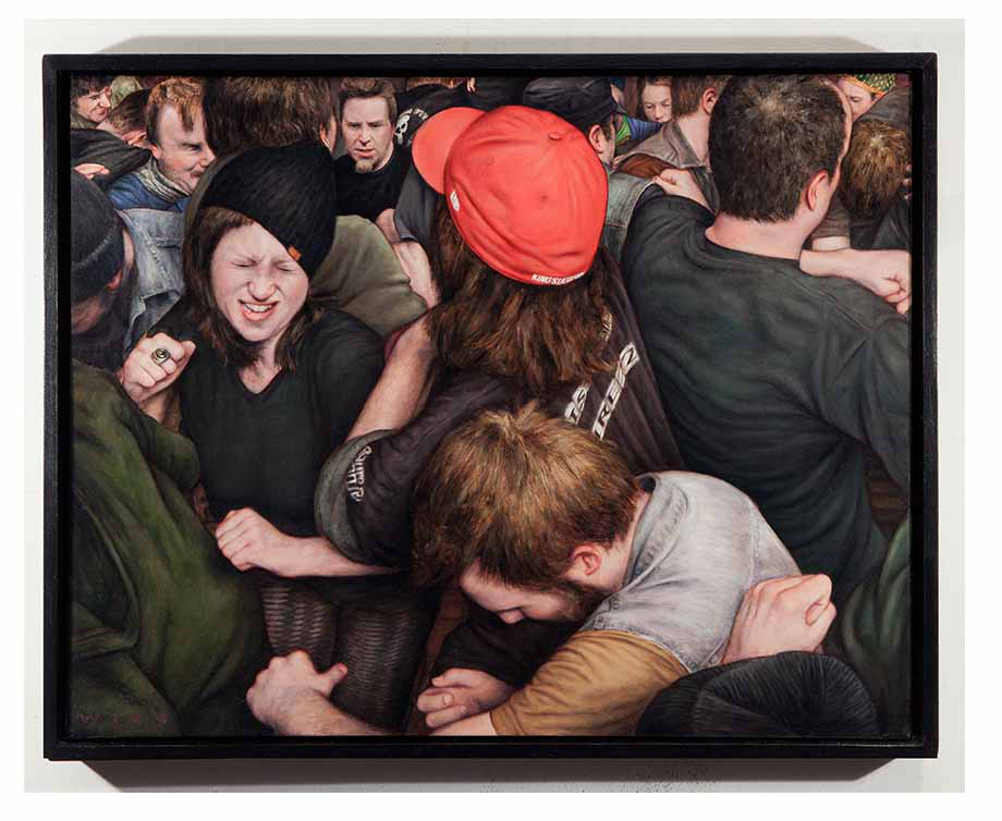 Dan  Witz -  <strong>Small Rectangle 70 Commercial St</strong> (2012<strong style = 'color:#635a27'></strong>)<bR /> oil and digital media on canvas,   22 x 30 inches  (55.88 x 76.20 cm)