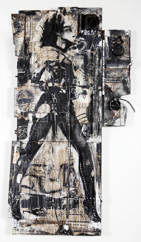 WK  &nbsp -  <strong>Sexy Door 1</strong> (<strong style = 'color:#635a27'></strong>)<bR /> mixed media on wood,   81 x 42.5 x 12 inches  (205.74 x 107.95 x 30.48 cm)