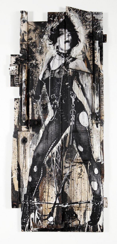 WK  &nbsp -  <strong>Sexy Door 2</strong> (<strong style = 'color:#635a27'></strong>)<bR /> mixed media on wood,   83 x 35.5 x 5 inches  (210.82 x 90.17 x 12.7 cm)