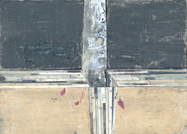 The Panorama Project  &nbsp -  <strong>Ryan Wallace,</strong> (2008<strong style = 'color:#635a27'></strong>)<bR /> Oil, alkyo-acrylic, ink, graphite, paper & mylar on board,   5 x 7 inches