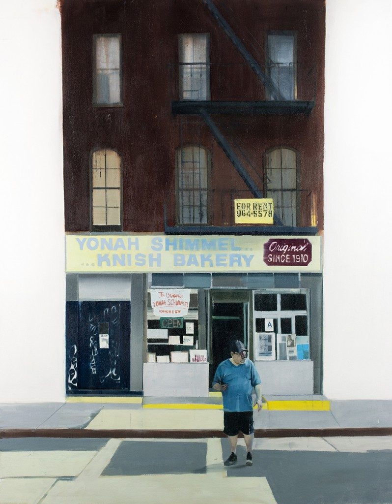 Brett Amory -  <strong>Yonah Shimmel (Waiting #249)</strong> (2015<strong style = 'color:#635a27'></strong>)<bR /> oil on canvas,   48 x 60 inches  (121.92 x 452.4 cm)
