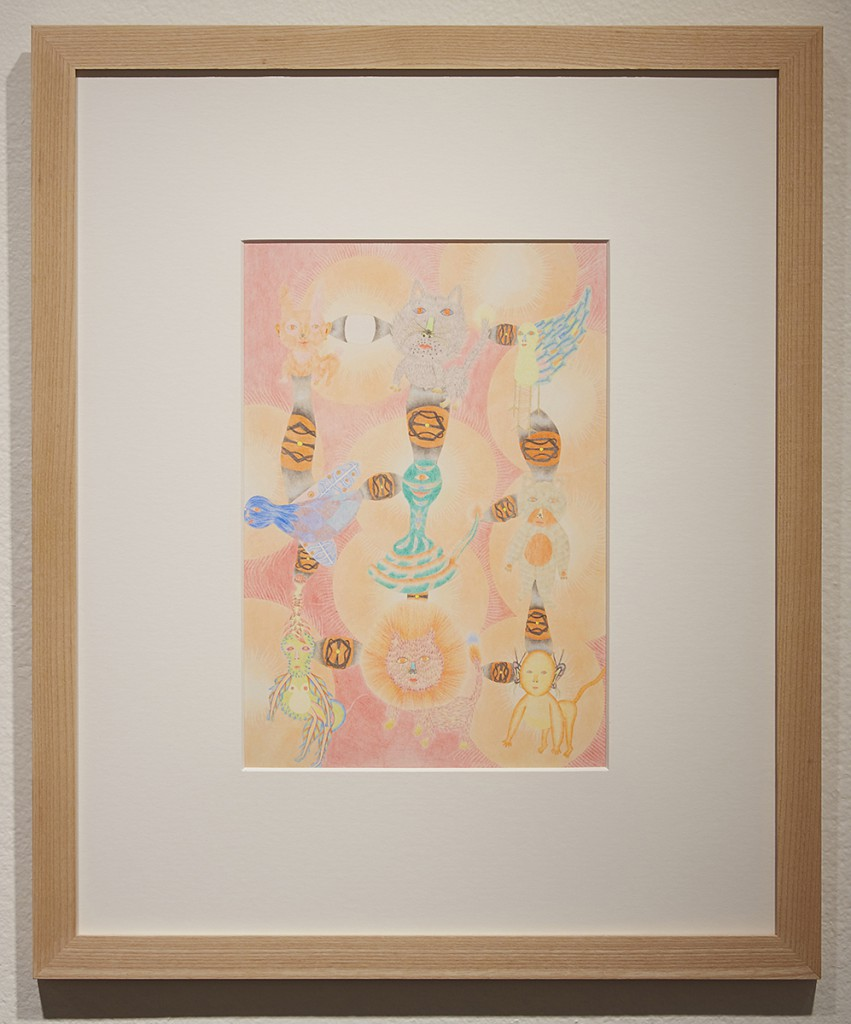 Yuko  Soi -  <strong>My Be Loved People</strong> (2013<strong style = 'color:#635a27'></strong>)<bR /> colored pencil on paper,   11.38 x 7.88 inches  (28.91 x 20 cm)  20.75 x 17.25 inches, framed