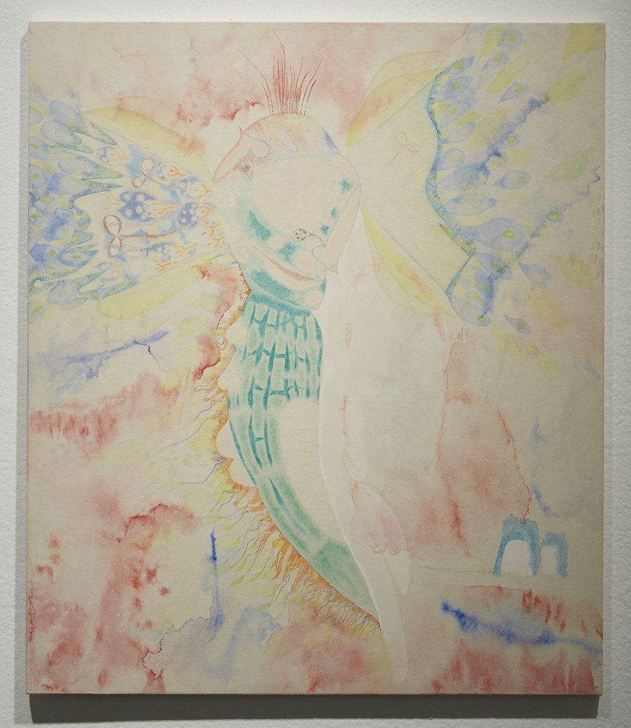 Yuko  Soi -  <strong>The Incarnation</strong> (2014<strong style = 'color:#635a27'></strong>)<bR /> colored pencil, watercolor and oil on paper,   20.86 x 17.91 inches  (53 x 45.5 cm)