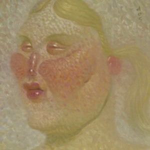 Dave  Cooper -  <strong>Anna</strong> (2005<strong style = 'color:#635a27'></strong>)<bR /> Oil on Canvas ,   10 x 10 inches