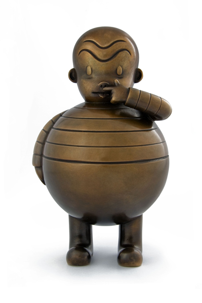 Gary  Taxali -  <strong>Totally Repugnant/Immensely Appetizing</br></strong> (2009<strong style = 'color:#635a27'></strong>)<bR /> bronze,   edition of 9,   8 1/2 x 5 x 5 inches