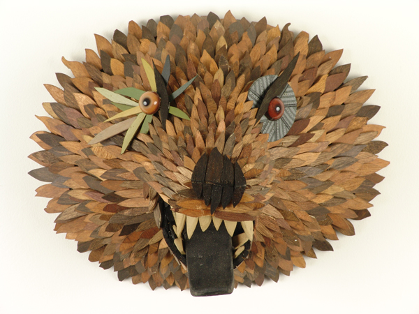 AJ  Fosik -  <strong>Bear Head</strong> (<strong style = 'color:#635a27'></strong>)<bR /> Mixed Media,   11 x 16 x 14 inches