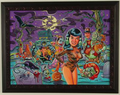 "Mitch  O'Connell -  <strong>Tor Love Betty</strong> (<strong style = 'color:#635a27'></strong>)<bR /> Acrylic on Board   Framed: 31"" x 24"""