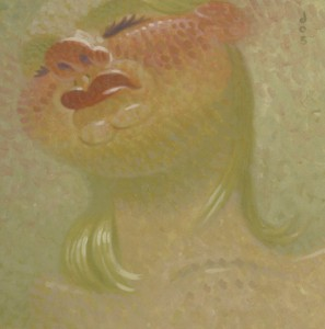Dave  Cooper -  <strong>Betty</strong> (2005<strong style = 'color:#635a27'></strong>)<bR /> Oil on Canvas ,   10 x 10 inches