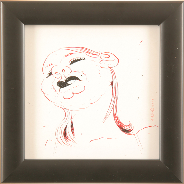 Dave  Cooper -  <strong>Study for Betty</strong> (2005<strong style = 'color:#635a27'></strong>)<bR /> Pen and Ink on Paper ,   5 x 5 inches