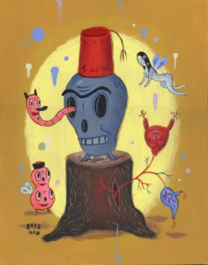 Gary  Baseman -  <strong>Stumpy</strong> (2003<strong style = 'color:#635a27'></strong>)<bR /> Acrylic on wood,   14 x 11 inches