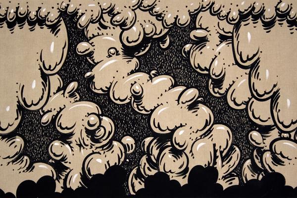 Mark Dean  Veca -  <strong>Burlesque</strong> (1999<strong style = 'color:#635a27'></strong>)<bR /> Acrylic on Linen,   32 x 48 inches
