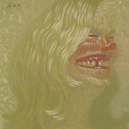 Dave  Cooper -  <strong>Carla</strong> (2005<strong style = 'color:#635a27'></strong>)<bR /> Oil on Canvas,   10 x 10 inches