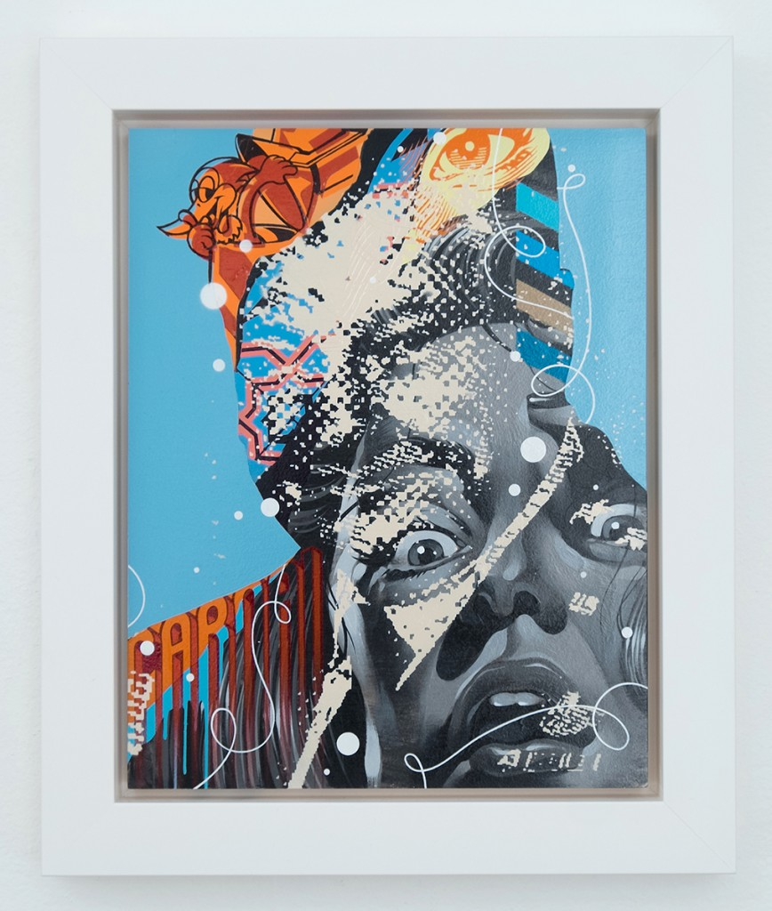 Tristan  Eaton -  <strong>Carnal Power</strong> (<strong style = 'color:#635a27'></strong>)<bR /> aerosol and acrylic on cradled wood panel,   11 x 14 inches  (27.94 x 35.56 cm)  14.5 x 17.5 inches, framed