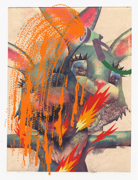 Erik Mark  Sandberg -  <strong>Chatsworth</strong> (2008<strong style = 'color:#635a27'></strong>)<bR /> Chemical Transfer on Chin Colle with 8 color silk-screen,   Edition 4/4,   Image size: 18 1/2 x 14 inches,   Framed size: 21 x 16 inches