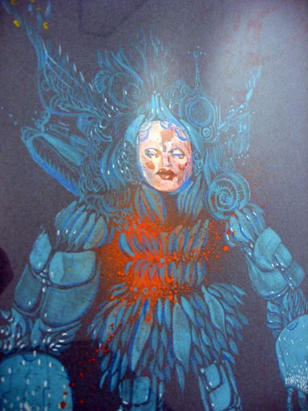 David  Choe -  <strong>Pornobot (DETAIL)</strong> (<strong style = 'color:#635a27'></strong>)<bR />