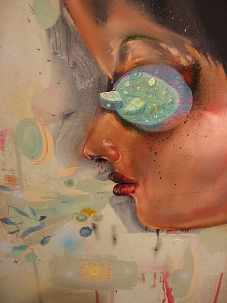 David  Choe -  <strong>City Girl (DETAIL)</strong> (<strong style = 'color:#635a27'></strong>)<bR />