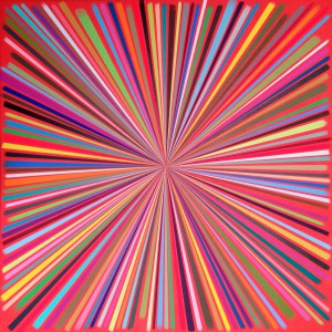 James  Marshall (Dalek) -  <strong>Untitled 2</strong> (2014<strong style = 'color:#635a27'></strong>)<bR /> acrylic on wood,   24 x 24 inches  (60.96 x 60.96 cm)