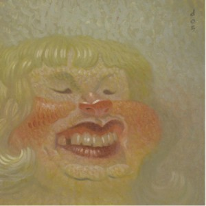 Dave  Cooper -  <strong>Denise</strong> (2005<strong style = 'color:#635a27'></strong>)<bR /> Oil on Canvas ,   10 x 10 inches