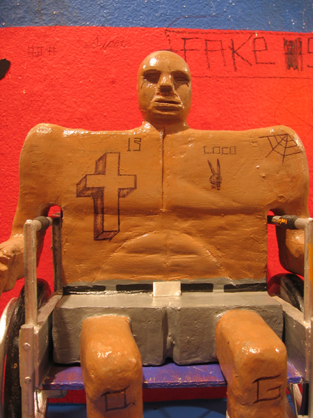 Date Farmers  &nbsp -  <strong>Disability (detail)</strong> (2008<strong style = 'color:#635a27'></strong>)<bR /> Mixed Media Sculpture,   14 x 10 x 8 inches