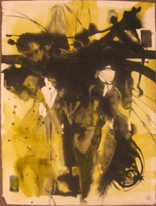 Doze  Green -  <strong>Untitled</strong> (2006<strong style = 'color:#635a27'></strong>)<bR /> Mixed Media on Paper,   30 x 23 inches