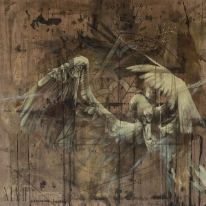 """Faith47   -  <strong>Escaping Fragility</strong> (2015<strong style = 'color:#635a27'></strong>)<bR /> acrylic, oil and graphite on wood,    48 x 48 inches  (121.92 x 121.92 cm),   <span style=""""font-size: 9pt; font-family: Arial, sans-serif;"""">"""