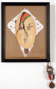 Erik  Foss -  <strong>She Bled For You</strong> (2007<strong style = 'color:#635a27'></strong>)<bR /> Mixed Media,   8 1/2 x 16 inches