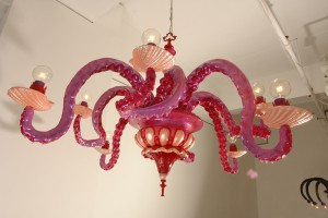 Adam  Wallacavage -  <strong>Bisbiglio d'Amaranto</strong> (2006<strong style = 'color:#635a27'></strong>)<bR /> Mixed media, epoxy resin-coated plaster wtih lamp parts,   30 x 40 x 40 inches