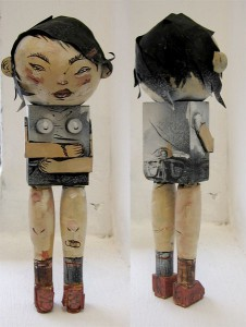 David  Choe -  <strong>Didi</strong> (<strong style = 'color:#635a27'></strong>)<bR /> Mixed media sculpture,   8 x 3 x 2 1/2 inches