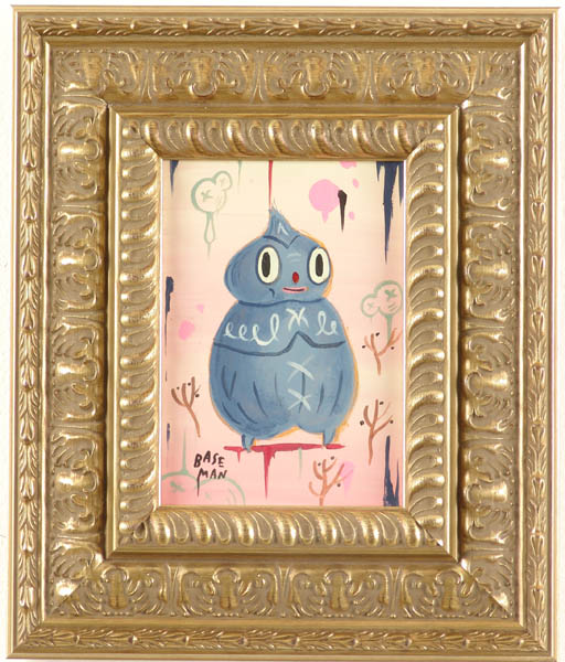 Gary  Baseman -  <strong>Gray Yawnyawn</strong> (2005<strong style = 'color:#635a27'></strong>)<bR /> Acrylic on Wood Panel,   7 x 5 inches