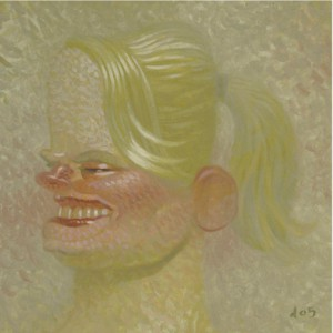 Dave  Cooper -  <strong>Helga</strong> (2005<strong style = 'color:#635a27'></strong>)<bR /> Oil on Canvas ,   10 x 10 inches