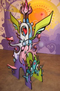 Highraff   -  <strong>Large Sculpture (side view)</strong> (<strong style = 'color:#635a27'></strong>)<bR /> Mixed Media Sculpture,   45 x 68 x 30 inches