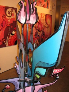 Highraff    -  <strong>Large Sculpture (detail)</strong> (<strong style = 'color:#635a27'></strong>)<bR /> Mixed Media Sculpture,   45 x 68 x 30 inches