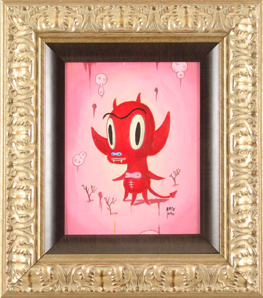 Gary  Baseman -  <strong>Hotchachacha (Portrait)</strong> (2005<strong style = 'color:#635a27'></strong>)<bR /> Acrylic on Wood Panel,   14 x 11 inches